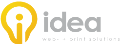Idea - web- + print solution